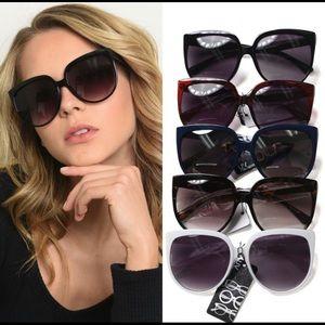 New! Oversized Cat Eye Sunglasses Black